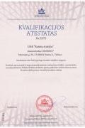Įmonės Rainių statyba sertifikatai